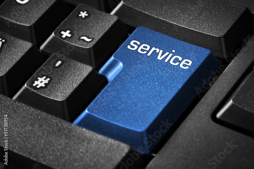 Keyboard with service