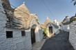 Alberobello, Italy. Beautiful view of Trulli typical Homes