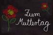Schultafel mit Blumen, Zum Muttertag
