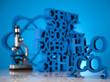 Molecular Model, Chemistry formula background