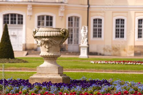Wermsdorf Schloss Hubertusburg im Frühling Detail