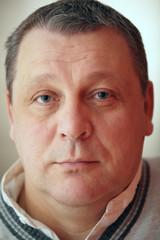 Closeup portrait of senior man.