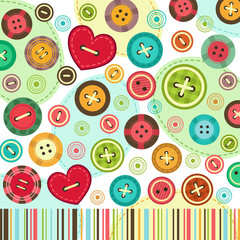 trendy colored  background of set buttons vector
