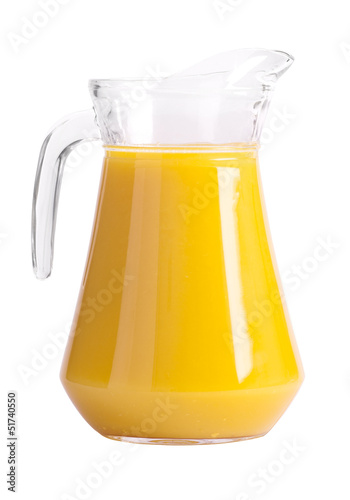 Pitcher of orange juice