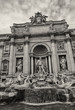 Trevi Fountain in Rome, Autumn season