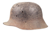 old rusty german helmet ww1 period