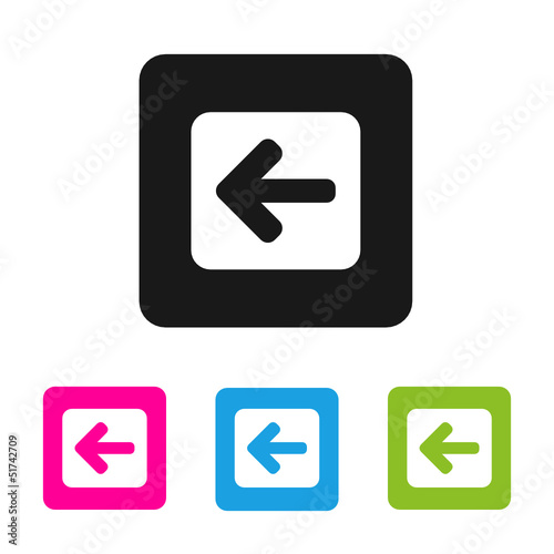 """set of 4 colorful """"left"""" buttons"""