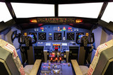 Cockpit of an homemade Flight Simulator - Boeing 737/800