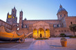 Palermo -  South portal of Cathedral or Duomo at dusk