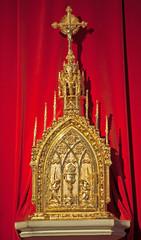 Toledo - Modern tabernacle in Monasterio San Juan de los Reyes