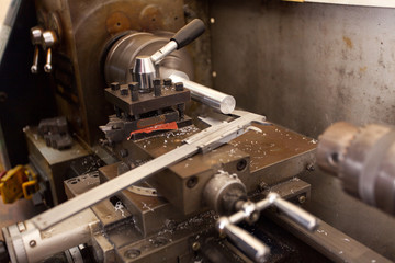 lathe machine and vernier