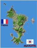 Mayotte island France national emblem map symbol motto