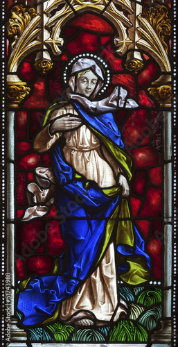 Madrid - Virgin from windowpane of church San Jeronimo el Real - 51743988