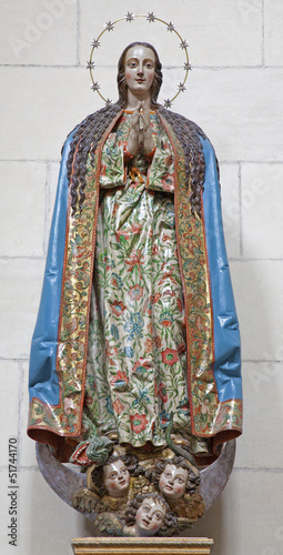 Toledo - Statue of Virgin Mary in Monasterio San Juan