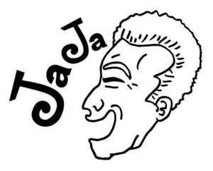 Laughing face man