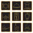 Elegant restaurant icons