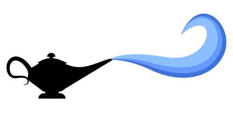 Blue art smoke