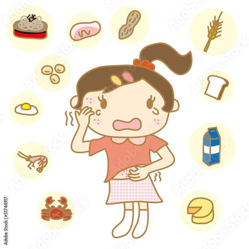 食物アレルギー 女の子