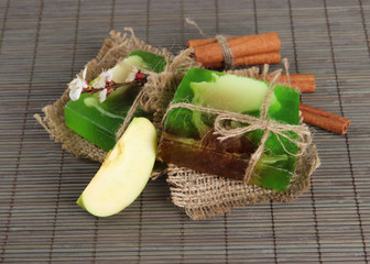 Hand made soap and ingredients for soap making
