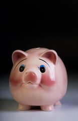 Piggy bank with room for your type.