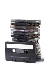 Stack audio cassettes