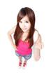 Teen girl smile  cheerful
