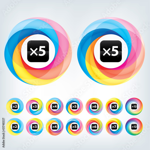 Abstract Infinite loop logo template. Corporate icon. 2,3,4,5,6,