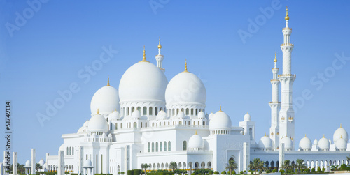 Beautiful Sheikh Zayed Mosque in Abu Dhabi city, UAE - 51749134