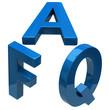 Blue FAQ icon