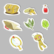 Magical items sticker collection set