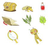 Magical items collection set