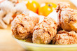 crispy fried chicken mix with herbs and spices
