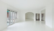 White apartment Interior, view large livingroom