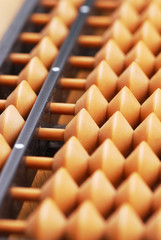 Close-up of classic abacus