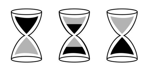 Hourglasses silhouette concept.