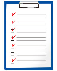 check list & clipboard