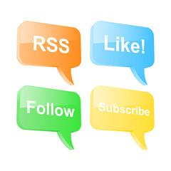 Social network speech bubbles. Vector illustration