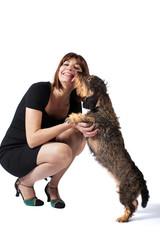 Bacio cane bassotto