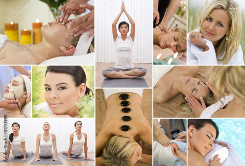 Montage Women Relaxing at Health Spa