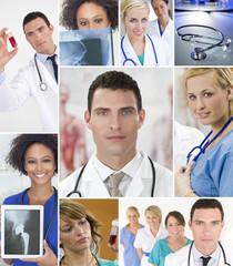 Montage of Medical Team Nurses & Doctor