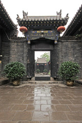 Chinese Traditional architectural style courtyard, with the prot