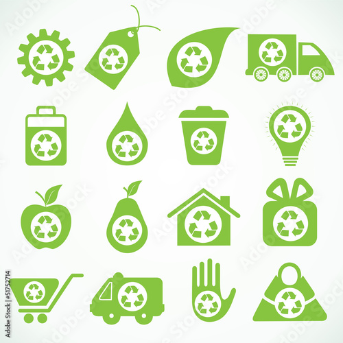 20 eco icons stock vector