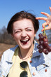 Girl Eating Grapes