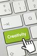 Creativity keyboard hand
