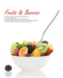Fresh mixed fruit salad in a bowl