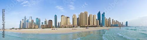 Fotobehang Dubai Marina Beach - Panorama (Dubai)