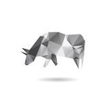 Cow isolated on a white backgrounds