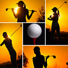 Golf concept collage