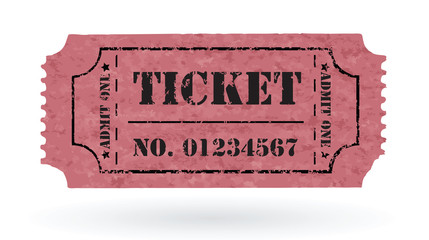 Old Vector vintage paper ticket with number