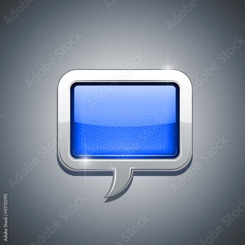 metallic speech bubble